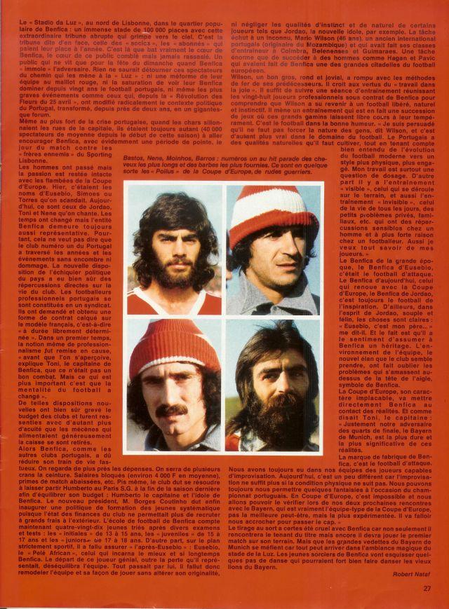 benfica anos 70